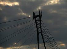 Pont au-dessus de rivière Dunajec Images libres de droits