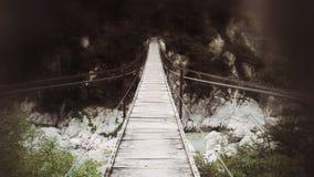 Pont au-dessus de Soca photo libre de droits