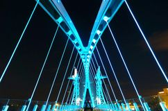 Pont au-dessus du canal maritime de Manchester Photos stock