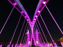 Pont au-dessus du canal maritime de Manchester Images stock