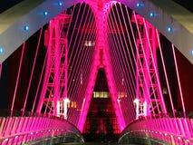 Pont au-dessus du canal maritime de Manchester Image stock