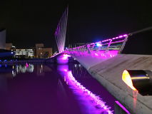 Pont au-dessus du canal maritime de Manchester Photo stock