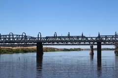 Pont au-dessus du fleuve Murray en Murray Bridge, Australie du sud Photo stock