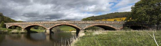 Pont au-dessus du tweed de rivière Photographie stock libre de droits