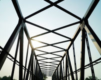 Pont au matin Images libres de droits