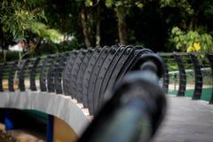 Pont au parc photos libres de droits
