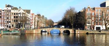 Pont authentique à Amsterdam Photographie stock libre de droits