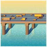 Pont avec des voitures Images stock