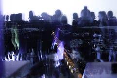 Pont avec la double exposition Image libre de droits
