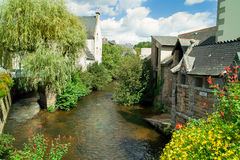 Pont aven in brittany. Aven river and pont aven in brittany Stock Photos