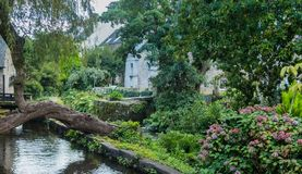 Pont-Aven, a commune in the Finistere department of Brittany Bretagne. stock image