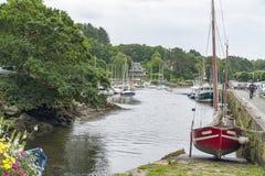 Pont-Aven i Brittany Fotografering för Bildbyråer