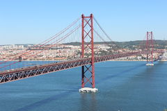 Pont 25 avril lisbonne portugal Photo libre de droits