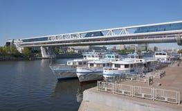 Pont Bagration en pilier Image stock