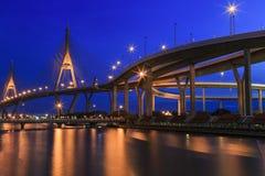 Pont Bangkok, Thaïlande de Bhumibol Photographie stock