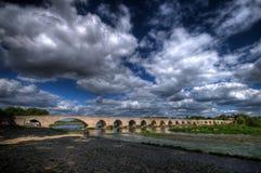 pont beaugency de hdr Стоковые Фото