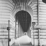 Pont Bir Hakeim, Parigi, Francia Immagini Stock