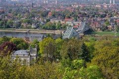 Pont bleu de merveille de Dresde Image libre de droits