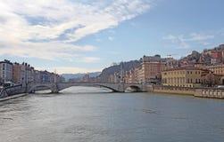 Pont Bonaparte bridge, Lyon, France Royalty Free Stock Photo