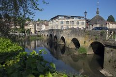 Pont Braford-Sur-Avon de ville Image libre de droits