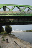 Pont Bratislava en tram Photographie stock