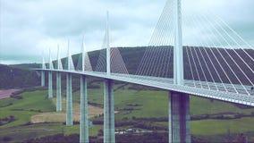 Pont Câble-resté énorme banque de vidéos