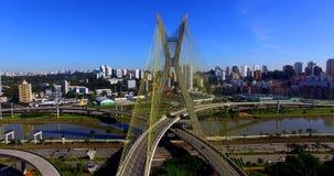 pont Câble-resté dans le monde, sao Paulo Brazil, Amérique du Sud banque de vidéos
