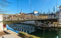Pont célèbre de ` de bouchers au-dessus de rivière Ljubljanica à Ljubljana, Slo Photographie stock