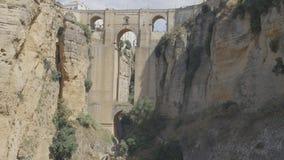 Pont célèbre de Puente Nuevo à travers le canyon, le point de repère principal de la ville de Ronda, Espagne images libres de droits