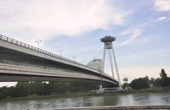 Pont célèbre Novi plus de Bratislava en Slovaquie Photographie stock