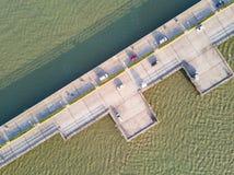 Pont côtier dans Chonburi Images libres de droits