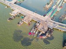 Pont côtier dans Chonburi Images stock