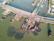 Pont côtier dans Chonburi Photos stock