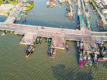 Pont côtier dans Chonburi Photographie stock libre de droits