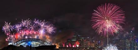 Pont CBD de Sydney Firework NY StL Images stock