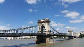 Pont à chaînes Budapest Hongrie Photographie stock libre de droits