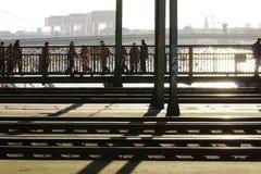 Pont Cologne de Hohenzollern Photographie stock libre de droits