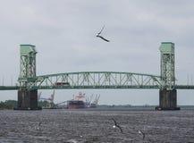 Pont commémoratif de crainte de cap à Wilmington, OR images stock