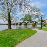 Pont comm?moratif d'Art Deco Columbia-Wrightsville Bridge Veterans, Colombie, PA photos stock