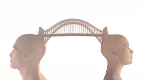 Pont conceptuel au-dessus de l'eau Images libres de droits
