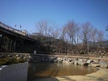 Pont Corée de liberté Photos stock