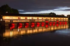 Pont Couvert, Überdachte Brücke Obraz Royalty Free