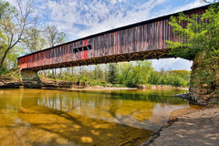 Pont couvert chez Cox Ford Photo stock