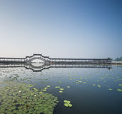 Pont couvert chinois Photos stock