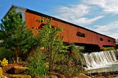 Pont couvert de Bridgeton Photo stock