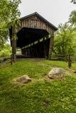 Pont couvert de moulin du ` s de Kidd - heure d'été en Pennsylvanie photo stock