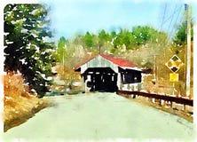 Pont couvert du Vermont Photos libres de droits