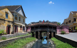 Pont couvert japonais Photographie stock