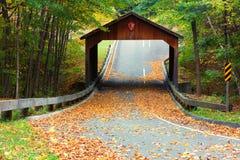 Pont couvert sur Pierce Stocking Scenic Drive aux dunes d'ours de sommeil images libres de droits