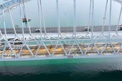 Pont criméen avant l'ouverture du trafic là-dessus Co grandiose image stock